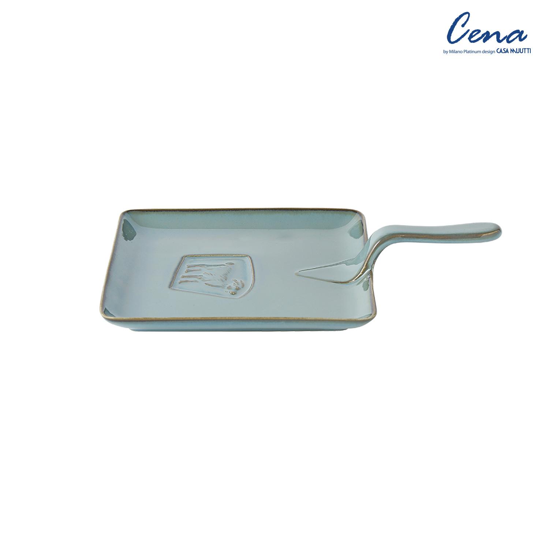 까사무띠 쎄나 사각 후라이팬 접시 24cm 다크그레이 LH7658-24