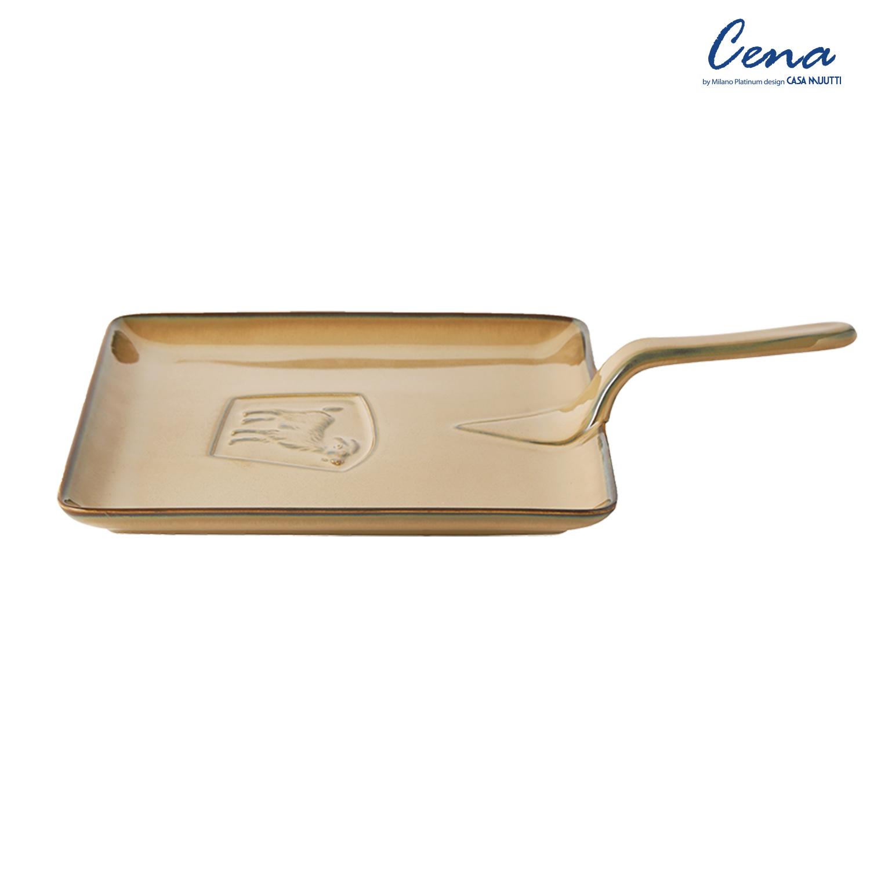 까사무띠 쎄나 사각 후라이팬 접시 36cm 브라운 LH7658-36